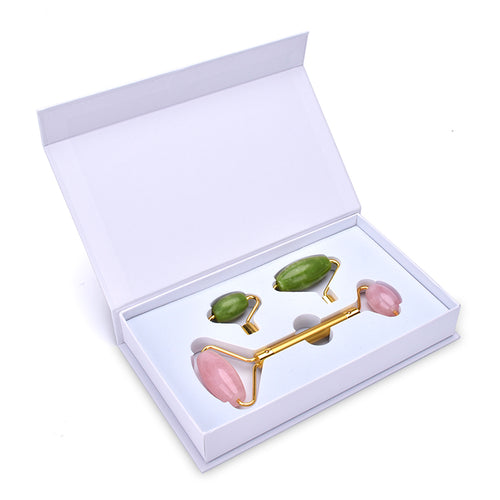 Roller 2-1 box Rose Quartz & Jade