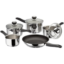 Load image into Gallery viewer, 5 piece Draining saucepan set
