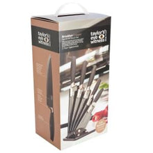 Load image into Gallery viewer, Taylor's Eye Witness Brooklyn 5 piece Knife Block in Black and Copper