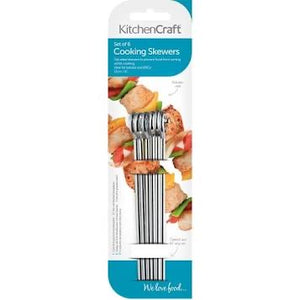Flat Sided Skewers 15cm 6pc S/S