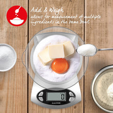 Load image into Gallery viewer, Salter 5KG Electronic Kitchen Scale - Silver