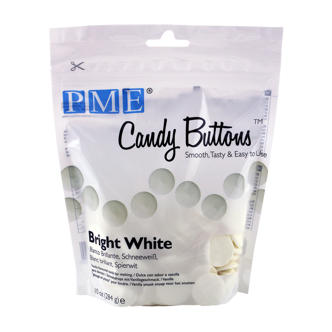 CANDY BUTTONS – BRIGHT WHITE (284g/ 10oz)
