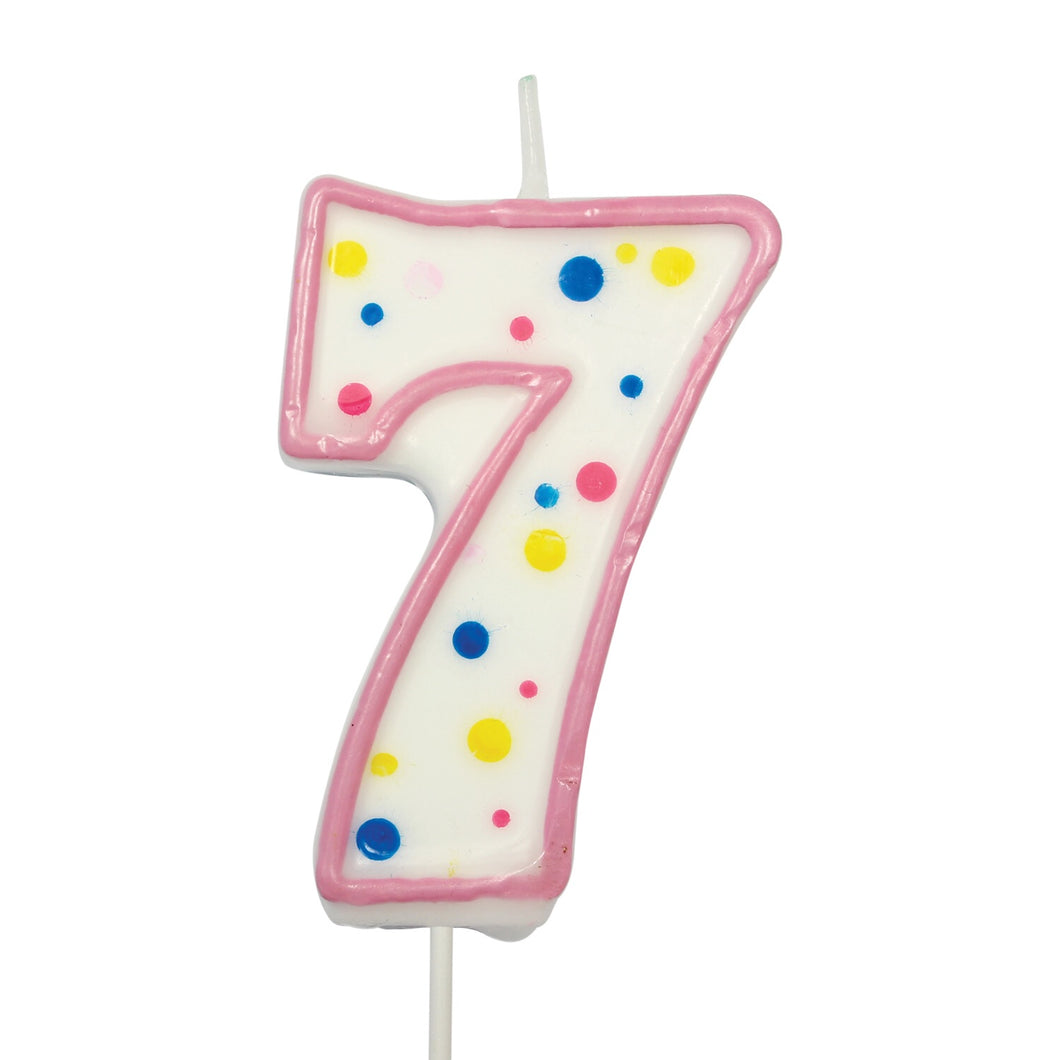 Number 7 Candle (3'')