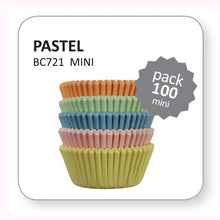 Load image into Gallery viewer, Pastel Mini Baking Cases Pk/100