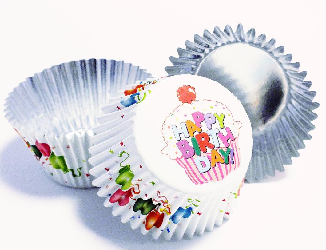 DEEP FILL FOIL LINED BAKING CASES – BALLOONS PK/30