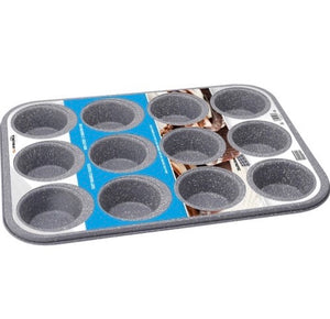 12 Cup Non Stick Grey Marble Coated Muffin Pan
