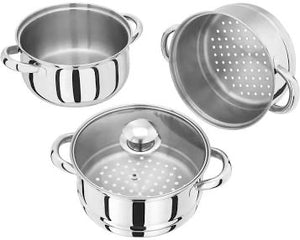 Judge Essential 18cm 3 Tires Glass Lid steamer set