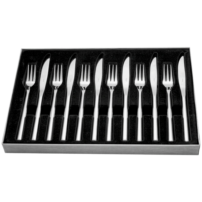 Steak Knife & Fork Set 12pc