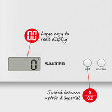 Load image into Gallery viewer, Salter Arc electronic kitchen scales -white