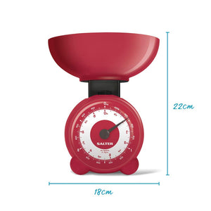 Salter Orb Mechanical Kitchen Scales - Red