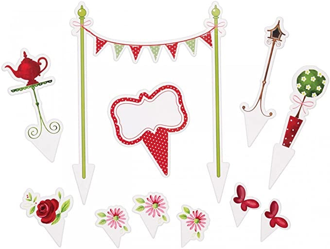 11 Sweetly Does It Tea Party Cake Topper Kit