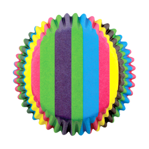 Rainbow Stripes Standard Baking Cases Pk/60
