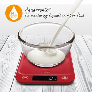 Salter 5kg Digital Kitchen Scale - Red