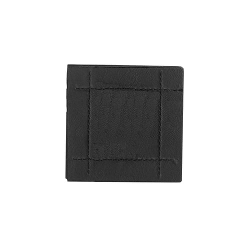 Rayware Faux Leather Stitch Black 4 Coasters