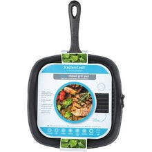 Load image into Gallery viewer, Cast Iron 23cm Square Grill Pan