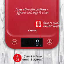 Load image into Gallery viewer, Salter 5kg Digital Kitchen Scale - Red
