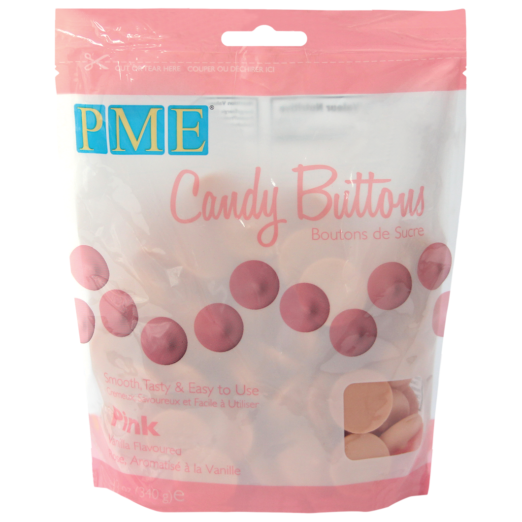 CANDY BUTTONS – PINK (340g / 12oz)