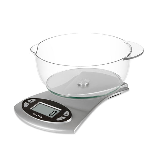 Salter 5KG Electronic Kitchen Scale - Silver