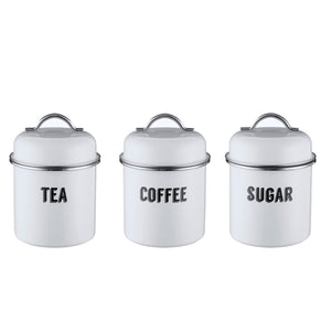 Retro White 3PC Storage Set