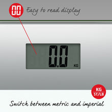 Load image into Gallery viewer, Salter Compact Glass Digital Bathroom Scales - White and Silver