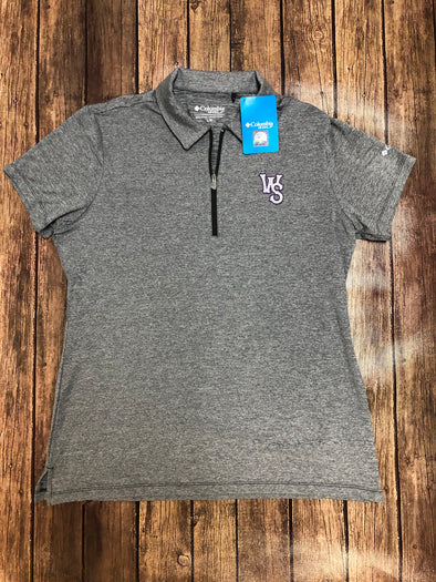 Columbia Women's Grey Zip Polo