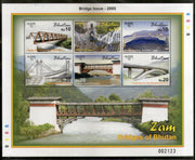 Bhutan 2005 Bridges Architecture Sc 1415 M/s MNH # 10013