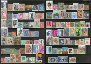 Worldwide 100 Different Used Stamps from 100 Different Countries State Small & Large - Phil India Stamps