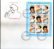 St. Vincent 1992 Elvis Presley Cinema Music Film Actor Sc 1767A Sheetlet FDC # 10122