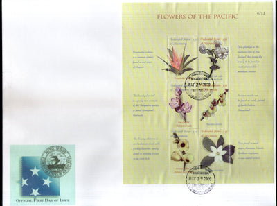 Micronesia 2000 Island Flowers Flora Tree Plant Sc 385 Sheetlet FDC # 10216