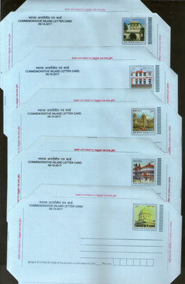 India 2017 5 Diff GPO Delhi Patna Mumbai Shimla Commemorative Inland Letter Cards # 10329