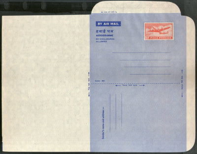 India 1960 20p Aerogramme Air Letter Jain-ALS34 Mint Aeroplane Postal Stationary # 10372