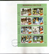 Gambia 1993 Baseball on Film Sport Cinema Sc 1349 Sheetlet FDC # 10408