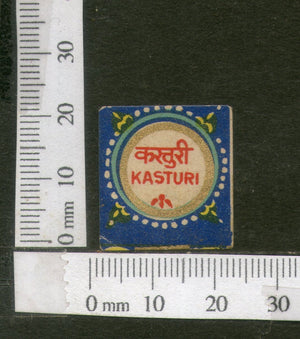 India Vintage Trade Label Kasturi Musk Essential Oil Label # 106 - Phil India Stamps