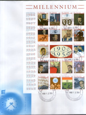 St. Vincent Grenadines 2000 Millennium Mahatma Gandhi Nehru India's Independence Sc 2764 Sheetlet FDC # 10759