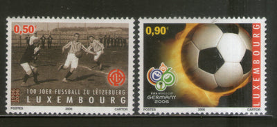 Luxembourg 2006 World Cup Football Soccer Players Sc 1187-88 MNH # 1079