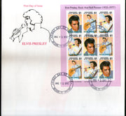 St. Vincent Grenadines 1992 Elvis Presley Cinema Music Film Actor Sc 1001 Sheetlet FDC # 10958