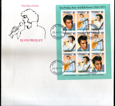 Dominica 1993 Elvis Presley Cinema Music Film Actor Sc 1544 Sheetlet FDC # 10959