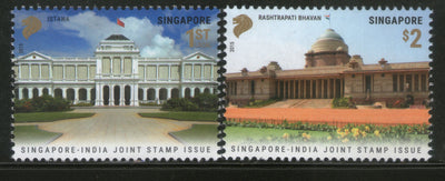 Singapore 2015 President Houses Joints Issue with India Architecture 2v MNH #111 - Phil India Stamps