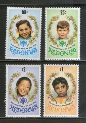 Redonda 1979 International Year of the Child - IYC Children Emblem 4v MNH # 1120