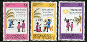 St. Vincent Grenadines 1980 Christmas Scenes and Verse 3v SPECIMEN MNH # 117 - Phil India Stamps