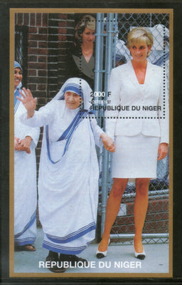 Niger 1997 Diana Princess of Wales With Mother Teresa Sc 946 M/s MNH # 12835