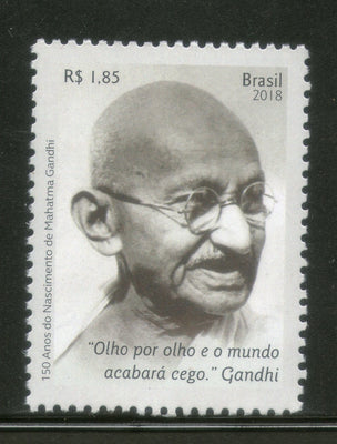 Brazil 2018 Mahatma Gandhi of India 1v MNH # 13097A