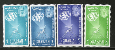 Sharjah - UAE 1963 Malaria Eradication Health Mosquito Sc 16-19 Set MNH # 13101A
