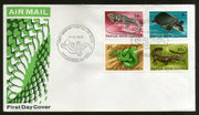 Papua New Guinea 1972 Reptiles & Amphibians Turtle Snake Lizards 4v FDC # 13162