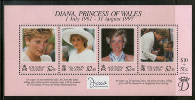 Solomon Islands 1998 Diana Princess of Wales Sc 867 M/s MNH # 13394