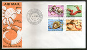 Papua New Guinea 1978 Traditional Shell Ornaments Gems Jewellery 4v FDC # 13444