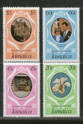 Jamaica 1981 Princess Diana & Prince Charls Royal Wedding Sc 532-37 4v MNH # 1366