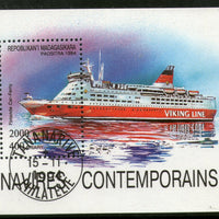 Malagasy 1994 Finnish Car Ferry Ship Transport Sc 1255 S/s Cancelled # 0143 - Phil India Stamps