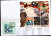 Micronesia 2001 Paintings by Toulouse Lautrec Art Sc 439 Sheetlet FDC # 15118