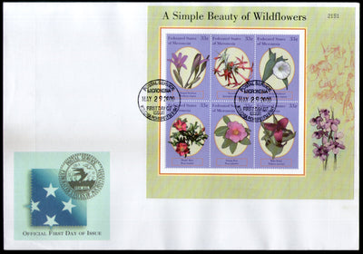 Micronesia 2000 Island Beauty of Wild Flowers Rose Flora Tree Plant Sc 386 M/s FDC # 15203